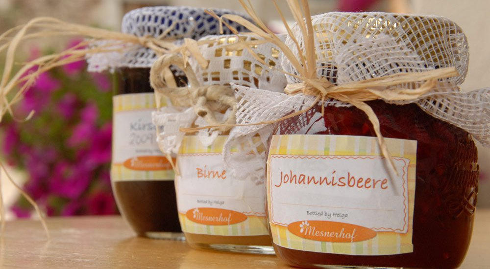 Our homemade products available at the farm