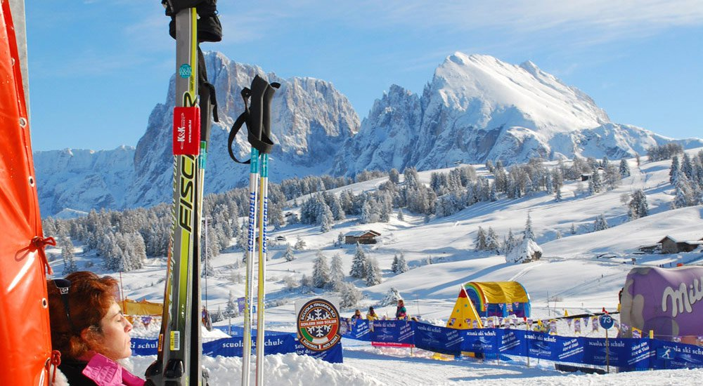 Pure variety on winter vacation Seiser Alm – Dolomites